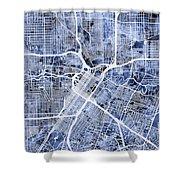 Houston Texas City Street Map Shower Curtain