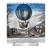Hydrogen Balloon, 1783 Shower Curtain