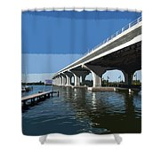 Indian River Lagoon At Vero Beach In Florida Shower Curtain
