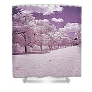 Infrared Garden Shower Curtain