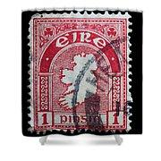 Irish Postage Stamp Shower Curtain