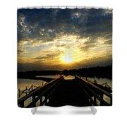 J P Landscape Shower Curtain