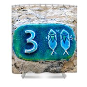 Jaffa, Pisces Zodiac Street Sign  Shower Curtain