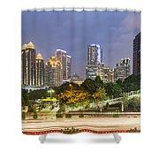 Jakarta Twilight Shower Curtain