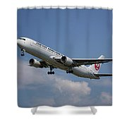 Japan Airlines Boeing 767-346 Shower Curtain