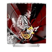 Joe Bonamassa Blue Guitarist Art Shower Curtain