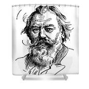 Johannes Brahms 1833-1897 Shower Curtain