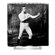 John L. Sullivan (1858-1918) Shower Curtain by Granger