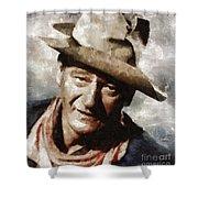 John Wayne Hollywood Actor Shower Curtain