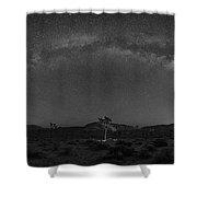 Joshua Tree Milky Way Panorama  Shower Curtain