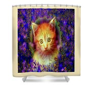 Kitten Portrait Shower Curtain