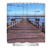 Lake Pier - England Shower Curtain