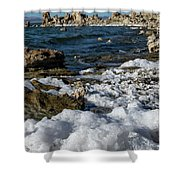 Lakefront At Mono Lake, Eastern Sierra, California, Usa Shower Curtain