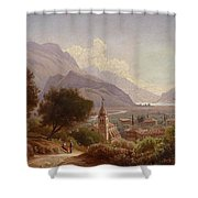 Landscape In Upper Italy Shower Curtain
