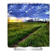 Landscape Painting Acrylic Shower Curtain