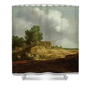 Landscape With A Cottage Shower Curtain