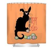 Le Chat Noir - Easter Shower Curtain