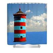 Lighthouse On The Sea Shower Curtain