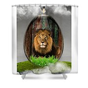 Lion Art Shower Curtain