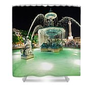 Lisbon By Night Shower Curtain
