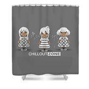 3 Little 3d Girls In Chilloutzone Shower Curtain