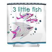 3 Little Fish Shower Curtain
