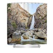 Lower Yosemite Fall In The Famous Yosemite Shower Curtain