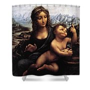 Madonna With The Yarnwinder Shower Curtain