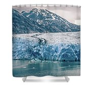 Magnificent Sawyer Glacier At The Tip Of Tracy Arm Fjord Shower Curtain