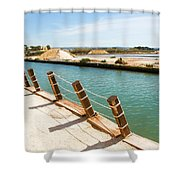 Main Canal - Trapani Salt Flats Shower Curtain