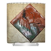 Mama - Tile Shower Curtain