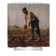 Man With A Hoe Shower Curtain