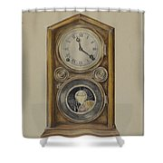 Mantel Clock Shower Curtain