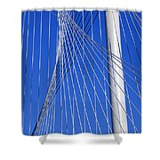 Margaret Hunt Hill Bridge In Dallas - Texas Shower Curtain