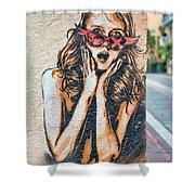 Marseille Street Art, Le Panier And Le Cours Julien Shower Curtain