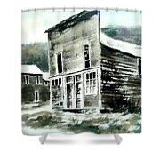 Marysville Ghost Town Montana Shower Curtain