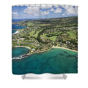Maui Aerial Of Kapalua Shower Curtain