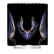 Medallion And Earrings Shower Curtain
