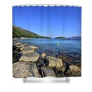 Mediterranean Seascape  Shower Curtain