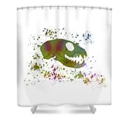 Meerkat Skull Shower Curtain