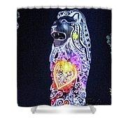 Merlion Shower Curtain