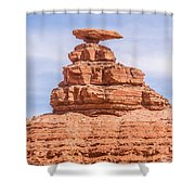 Mexican Hat Rock Monument Landscape On Sunny Day Shower Curtain