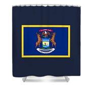 Michigan Flag Shower Curtain