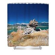 Mono Lake Tufa Shower Curtain