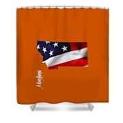 Montana State Map Collection Shower Curtain