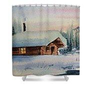 Montana Winter Shower Curtain