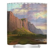 Mount Arapiles And The Mitre Rock Shower Curtain
