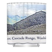 Mount Baker, Cascade Range, Washington State Shower Curtain
