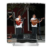 Musicians In The Park Candelaria In Valladolid Shower Curtain