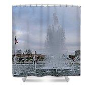 National World War II Memorial Shower Curtain